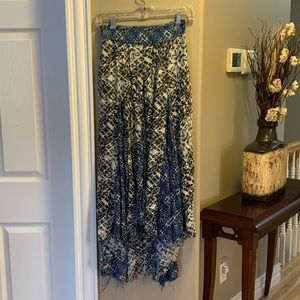 Free People patterned maxi skirt